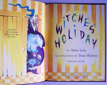 Witches Holiday by Alice Low - Children's Book - Halloween