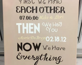 First We Had Each Other!