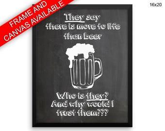 Beer Printed  Poster Beer Framed Beer Bar Art Beer Bar Print Beer Canvas Beer chalkboard beer chalkboard mug beer art gift