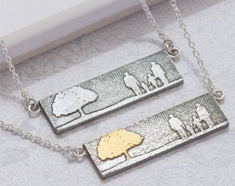 Family Tree Necklace | Family Jewellery | Silver Family Necklace