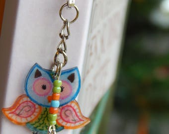 OWL bookmarks and metal beads