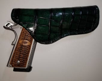 Custom, Hand made, Hand Stitched Genuine Alligator Leather Holster.    *Limited Edition*