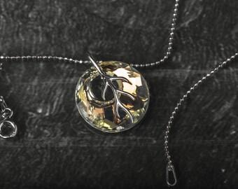 Mystery branch 925 sterling silver and swarovski crystal necklace