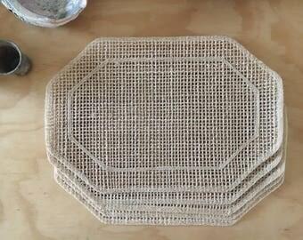 boho vintage woven placemat set