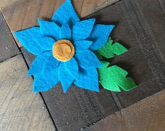 Large blue flower