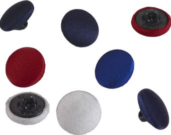 Satin covered buttons, 24 ligne, 24 buttons