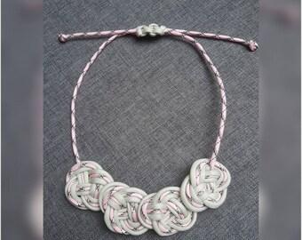 Statement necklace Paracord necklace birthday Oktoberfest macrame