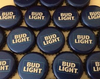 100 Lot BUD LIGHT Beer Bottle Caps Crowns~No Dents! Clean!