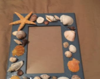 Sea shell frame for a 5x7 picture