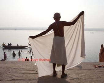 Silhouette on the Ganges River