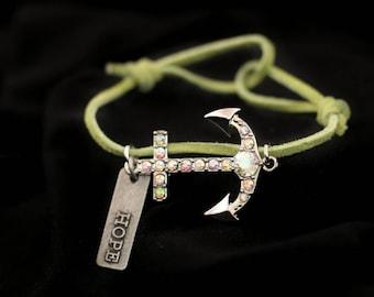 Hope Anchors The Soul - adjustable bracelet