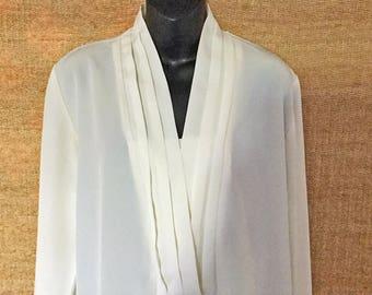 Vintage UTY APPAREL shawl neck blouse, size Large