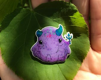 Horned Octopus Pin