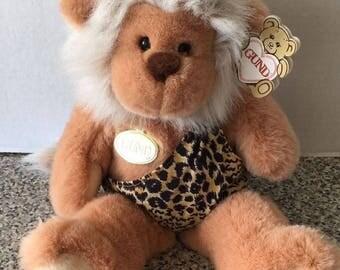 "Gund TARZ CAVEMAN Monkey Stuffed Animal Plush VTG 1990 14"" Tall Retired 2725 Tag"