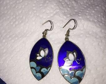 Beautiful vintage cloisonné earrings !