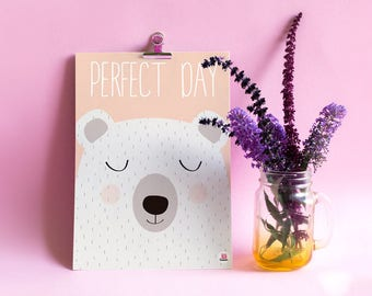 """Deco poster child """"Perfect day"""""""