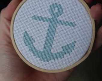 Anchor cross stich - small anchor