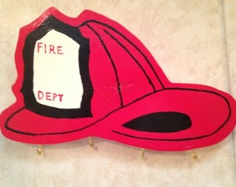 Firefighter Helmet Key Hook
