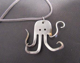 Fork octopus pendant