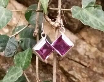 2 alexandrite hand made earrings