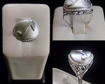 Sterling silver eighth note ring