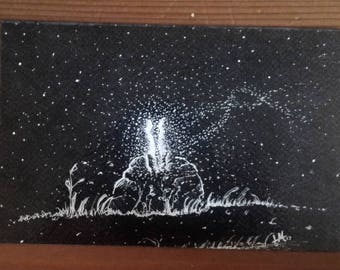 Magical Kiss & Starry Night Card