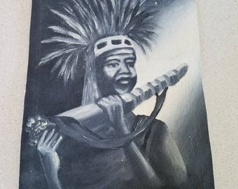 African Chief with Horn