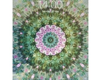 Phone / Tablet Wallpaper - Digital Wallpaper - Fantasy Art - Underwater Garden  - Digital Art - Instant Download - Bohemian Kaleidoscope I