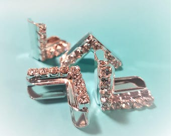 Crystal Studded Ledger Corners