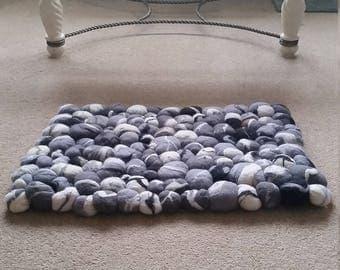 merino wool stone rug