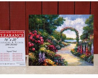 Art Print By JOHN ZACCHEO Lakeside Arbor - SQUARE Deal - Buy 2 Get 2 Free - Buy 4 Get 12 Free - Buy 7 Get 42 Free - Buy 10 Get 90 Free