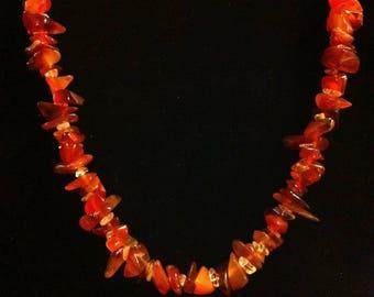 Carnelian stone necklace