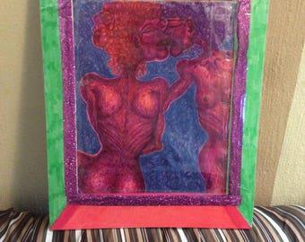Lady Lovers Original Framed Art Work