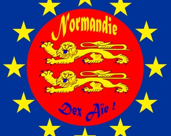 Sticker Normandy Europe