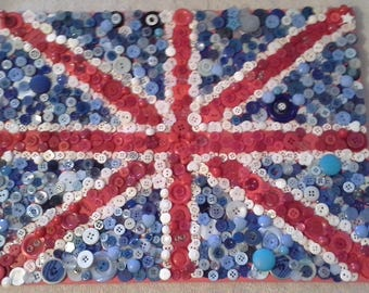 Union Jack Button Canvas