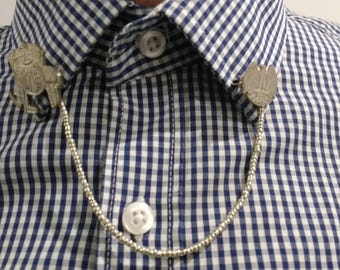 Collar brooch and chain
