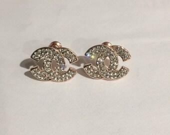 CC Rhinestone Earrings