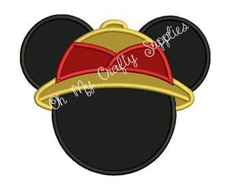 Safari Mouse Applique Design