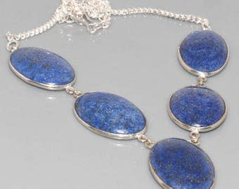 Necklace in silver and lapis lazuli