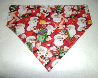 Dog Bandana, Santa, Monogram, Christmas gift, Stocking stuffer,  Dog lovers gift, Scarf, Over the Collar,  Dog Bandana, Photo Shoot