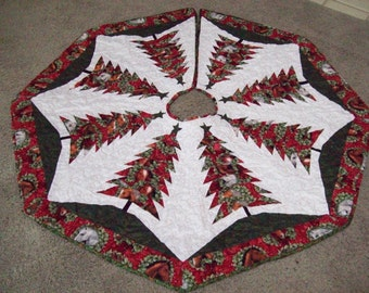 Christmas Tree Skirt #79 Quilted, Reversible