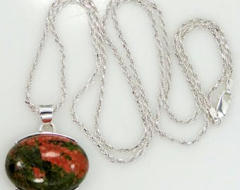 Sterling and Agate Necklace