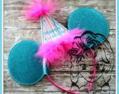 Headband BIRTHDAY Nbr Set Headband Photos Princess Party Birthday Machine Embroidery Design - INSTANT Download Design by Carrie