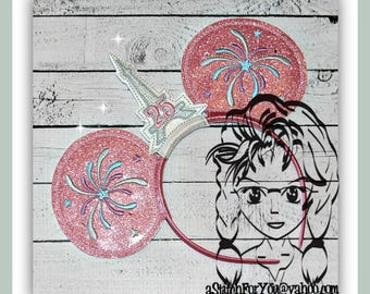 EIFFEL ToWER & FiREWORK Inspired (3 Piece) Mr Miss Mouse Ears Headband ~ In the Hoop ~ Downloadable DiGiTaL Machine Emb Design by Carrie