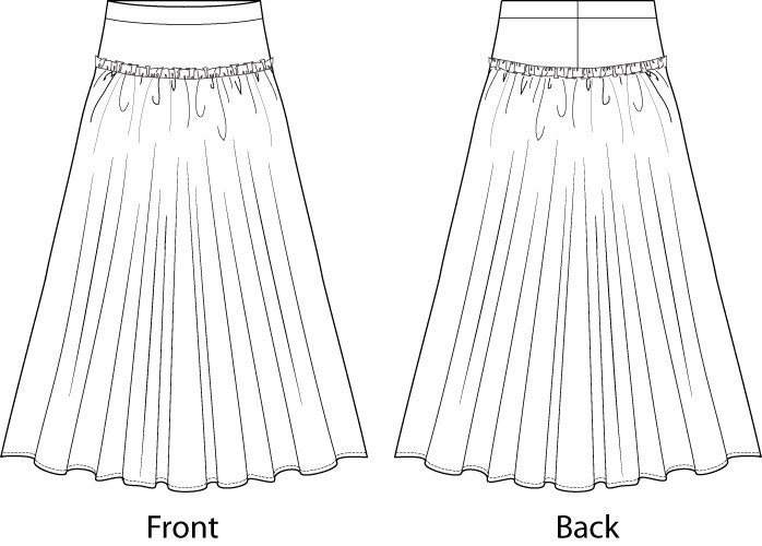 Double Layered Underskirt/Petticoat Sewing Pattern - Sizes 8-22 UK - Download PDF