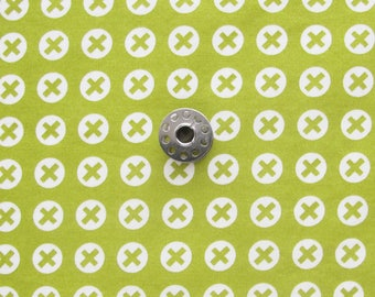 FAT EIGHTH Reel Time by Zen Chic for Moda | Quilting cotton fabric with spring green chartreuse greenery background.