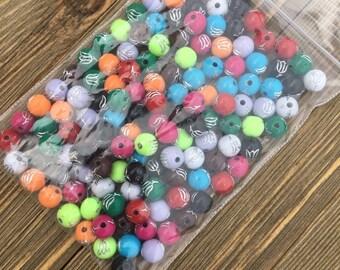 Plastic Round Bead Mix