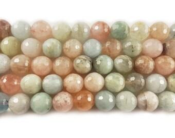 Pink Beryl Morganite Multi Stone Faceted Gemstone Beads