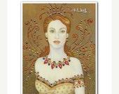 ON SALE 50% OFF Signed 8 x 10 Print Ireland Irish Fairy Art Nouveau Goddess Victorian Diva B. K . Lusk