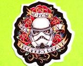 Storm Trooper Star Wars Old School Tattoo Flash Inspired Rockabilly Geek Waterproof Vinyl Sticker
